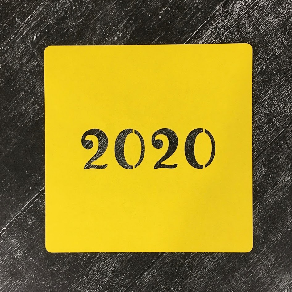 Трафарет новогодний 2020 №28