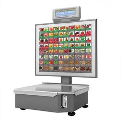 Штрих-ПРИНТ С 15-2.5 Д2 (н) весы с печатью этикетки  (v.4.5) (Ethernet),  80 крупных кнопок