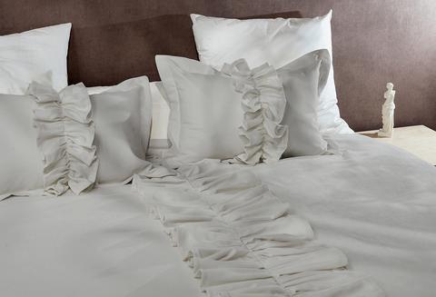 Комплект для спальни микровелюр Жозефина  светлый серый 7 предметов