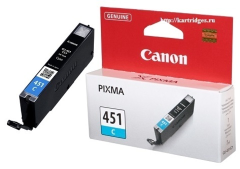 Картридж Canon CLI-451 C / 6524B001