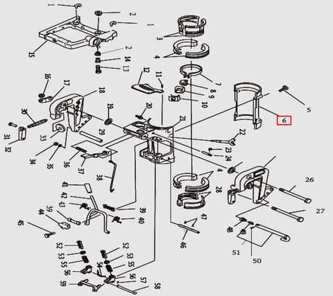Скоба струбцины Б для лодочного мотора T9.8 Sea-PRO (11-6)