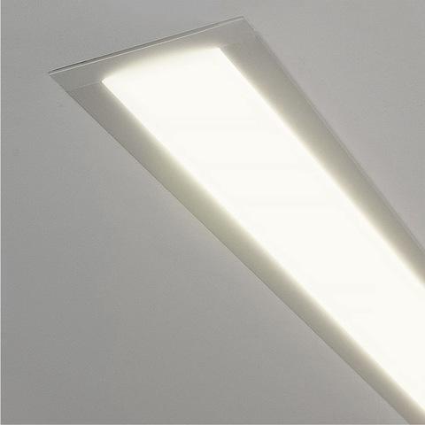 Линейный светодиодный встраиваемый светильник 128см 25Вт 4200К матовое серебро 100-300-128