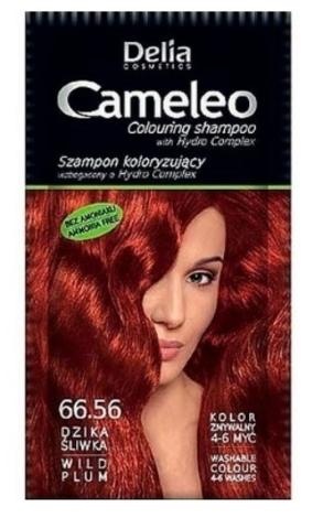 Delia Cosmetics Cameleo Оттеночный шампунь тон 66.56 дикая слива (саше 40мл)