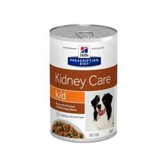 Hill's™ Prescription Diet™ k/d™ Рагу, влажный корм для собак при лечении заболеваний почек, с курицей и добавлением овощей 354 гр