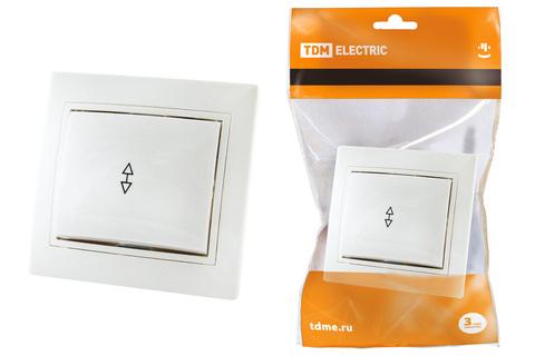 Выключатель на 2 направления 1 кл. 10А белый