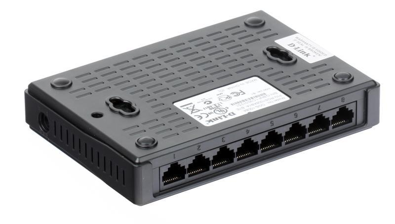 Коммутатор 8-ми портовый D-Link DGS-1008A