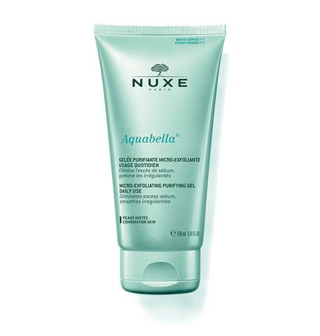 Nuxe АКВАБЕЛЛА Нежный очищающий эксфолиирующий гель для лица