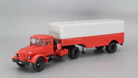 MAZ-200V with semitrailer MAZ-5217 1:43 DeAgostini Auto Legends USSR Trucks SE#3