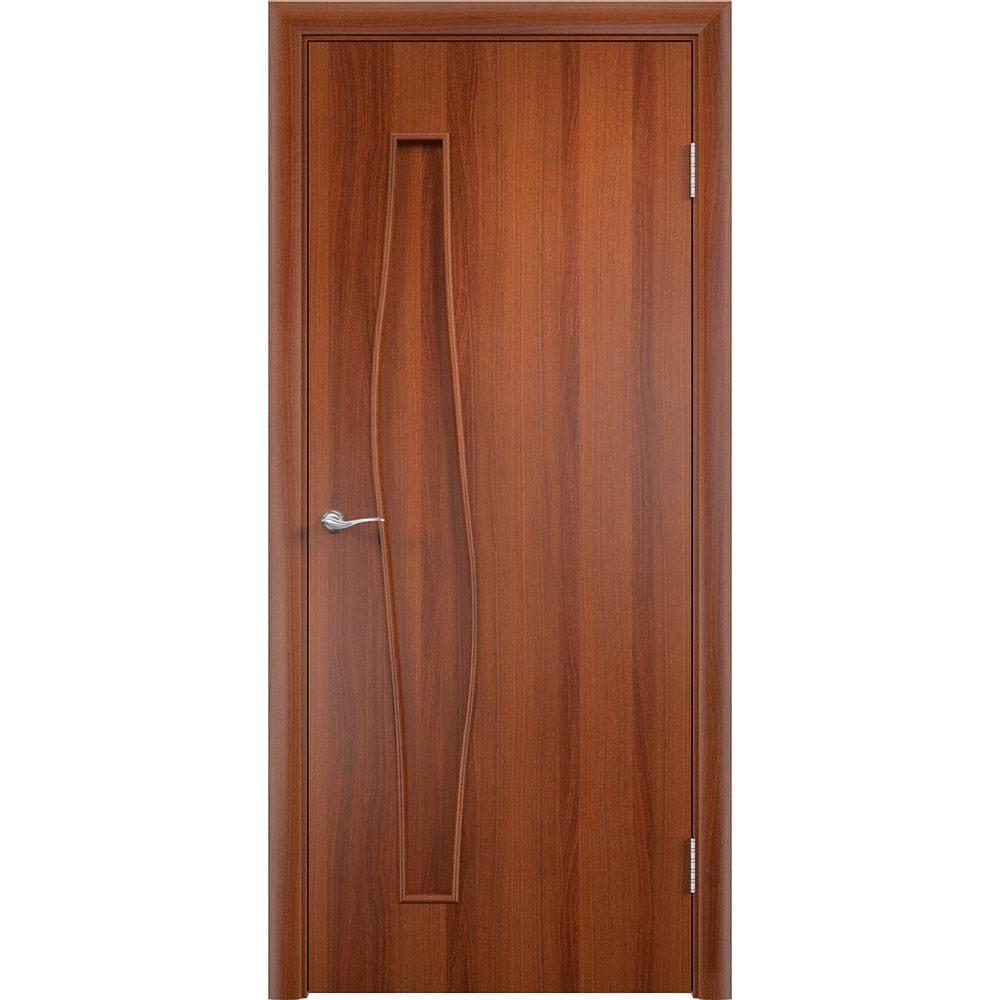 Ламинированные двери Волна итальянский орех без стекла volna-pg-ital-oreh-dvertsov-min.jpg