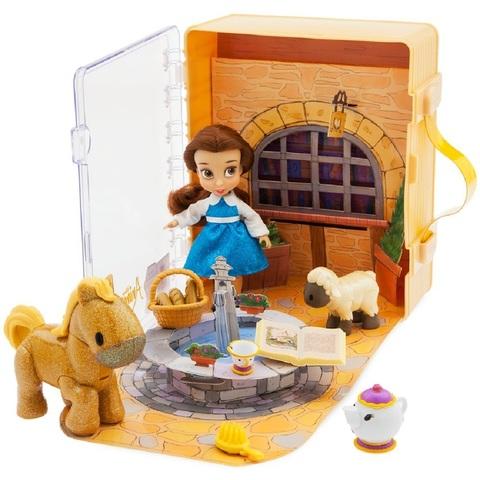 Дисней Аниматор набор с мини-куклой Белль 13 см книжка