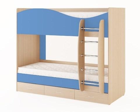 Кровать КР-05 дуб беленый / синий