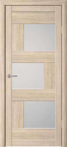 Дверь Фрегат ALBERO Стокгольм, стекло матовое, цвет лиственница мокко, остекленная