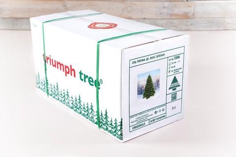 Искусственная елка Императрица с шишками 155 см заснеженная