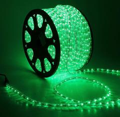 Дюралайт светодиодный, чейзинг, 11мм - 3 жилы - 24 led/m, Зеленый - 50м