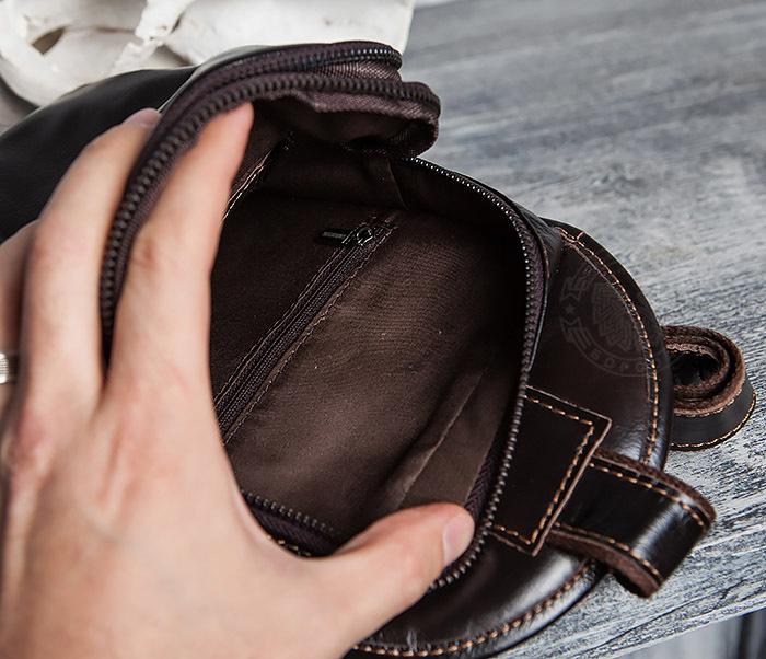 BAG420-2 Крутая мужская сумка из кожи с одной лямкой фото 13