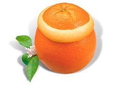 Мороженое натуральное в апельсине, 170г