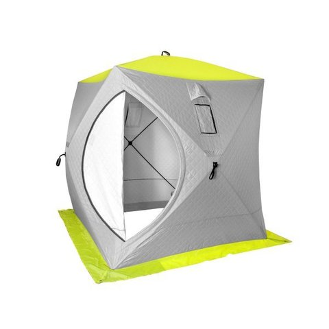 Палатка-куб зимняя PREMIER (1,8х1,8) утепленная  (yellow lumi/grey)