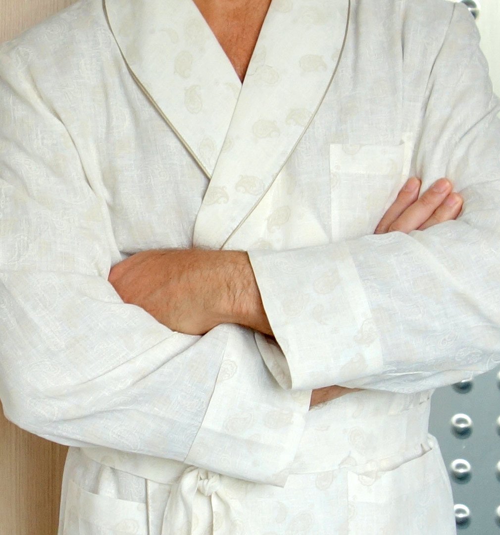 Льняной мужской халат B&B
