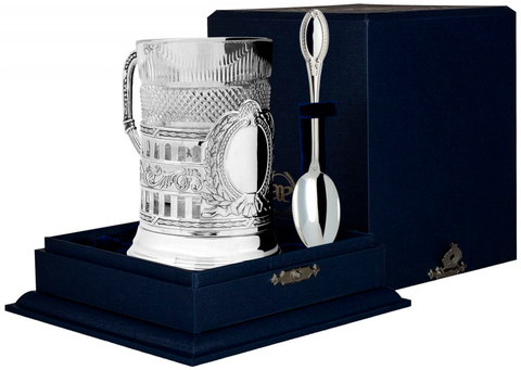 Cеребряный набор для чая «Гербовый»