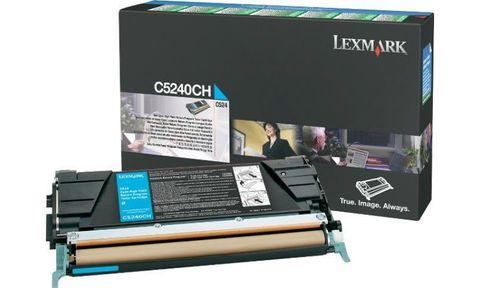 Картридж для принтеров Lexmark C524 голубой (cyan). Ресурс 5000 стр (C5240CH)