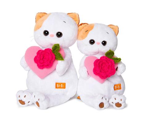Кошечка Ли-Ли с розовым сердечком LK27-004