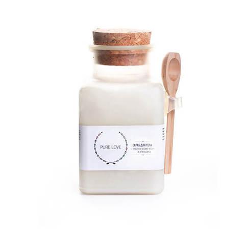 Скраб для тела соляной с маслом иланг-иланга и апельсина, 150гр.