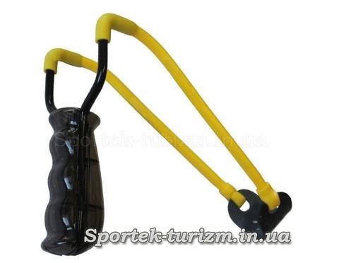 Рогатка Man Kung MK-T5 черная ручка и желтая резинка