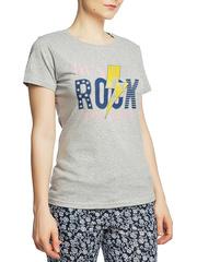 8526-2 футболка женская, серая