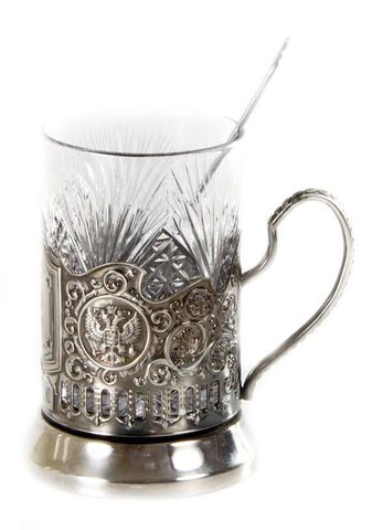 32899669 Набор для чая (3 пред.) Герб, никел.