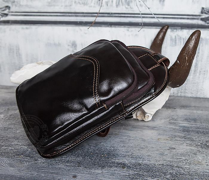 BAG420-2 Крутая мужская сумка из кожи с одной лямкой фото 16
