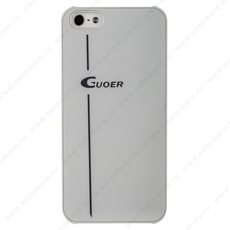 Накладка GUOER для iPhone SE/ 5s/ 5C/ 5 белая