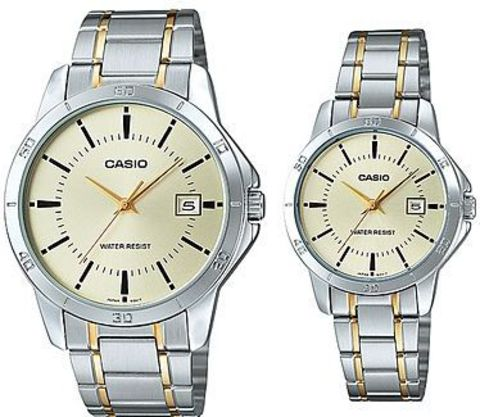 Купить Парные часы Casio Standard: MTP-V004SG-9AUDF и LTP-V004SG-9AUDF по доступной цене