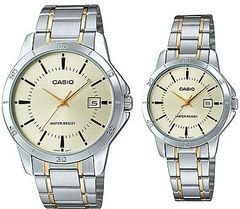 Парные часы Casio Standard: MTP-V004SG-9AUDF и LTP-V004SG-9AUDF