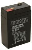 Аккумулятор General Security GS 2,8-6 ( GS6-2.8 ) ( 6V 2,8Ah / 6В 2,8Ач ) - фотография