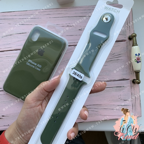 Ремешок Apple watch 38/40mm Sport Band /olive/ оливка
