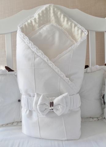 Демисезонное одеяло-конверт на выписку Зефиринка