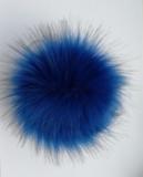Помпон искусственный темно-синий