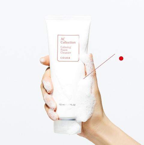Успокаивающая пенка для умывания для проблемной кожи, 150 мл / Cosrx AC Collection Calming Foam Cleanser