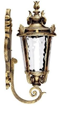 Светильник садово-парковый, 60W 230V E27 IP44 черное золото, PL4001 (Feron)