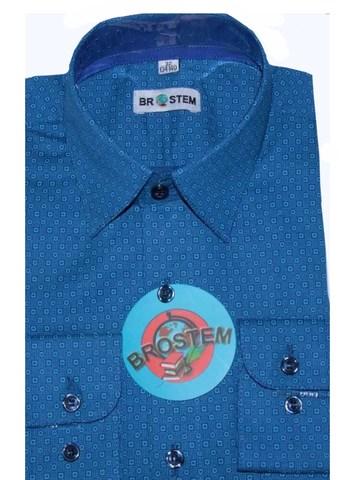 BROSTEM Рубашка для мальчика школьная 8LD034+5d бирюзовая