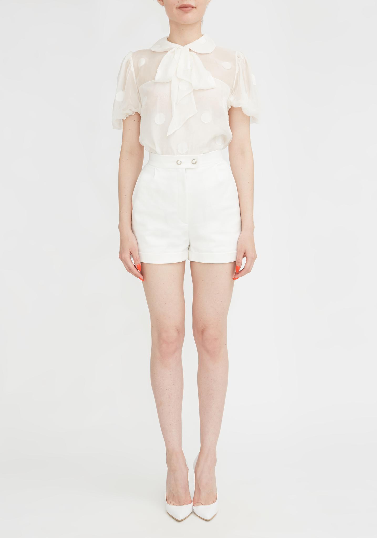Блуза белая из натурального шелка