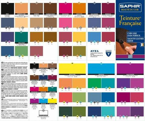 Универсальная краска для кожи Saphir Teinture francaise, 500мл. (12 цветов)