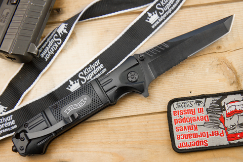 Складной нож Walther Tanto(насечки)