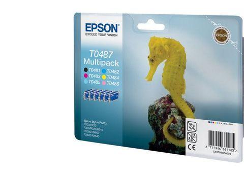 Комплект картриджей Epson C13T04874010 (C13T048140BA) C/M/Y/LM/LC/B MultiPack