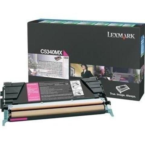 Картридж для принтеров Lexmark C534 пурпурный (magenta). Ресурс 7000 стр (C5342MX)