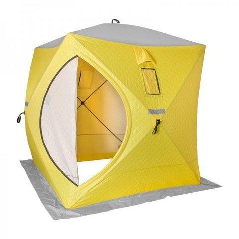 Палатка зимняя утепленная  КУБ 1,5х1,5 (yellow/grey) Helios