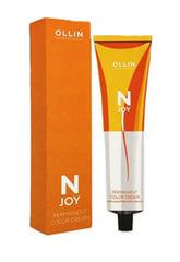 OLLIN N-JOY 10/75 – светлый блондин коричнево-махагоновый, перманентная крем-краска для волос 100мл