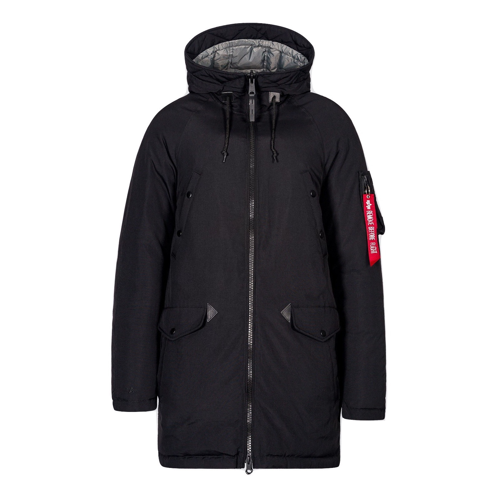 Парка Alpha Industries N-3B Down Parka Black/New Silver (черная)