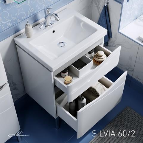 Тумба Silvia 60-02 (ум.Como 60) Белый