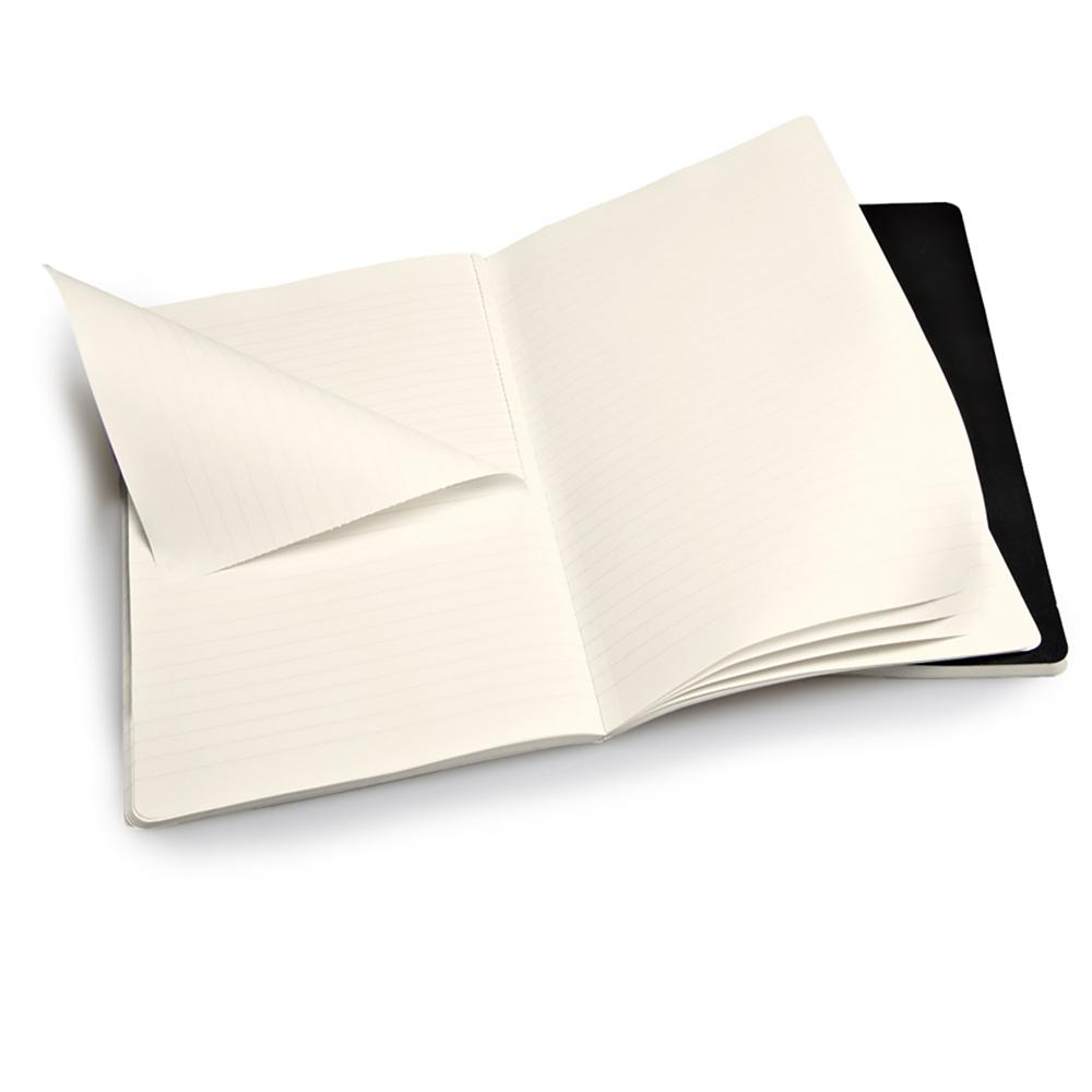 Набор 2 блокнота Moleskine Volant Large, цвет черный, в линейку